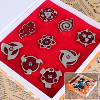 NARUTO BROOCH SET (9pc)